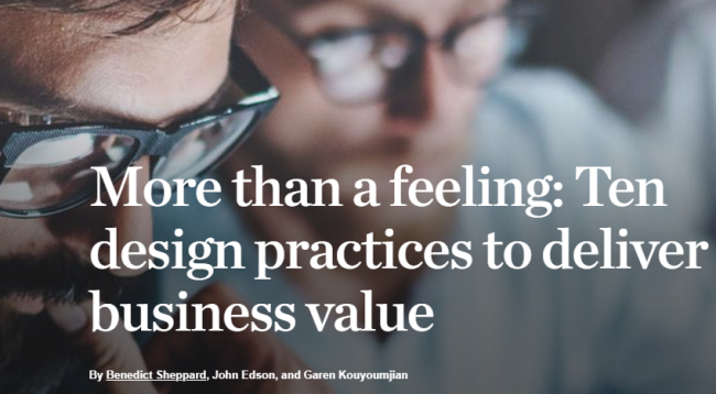 McKinsey design thinking at 50 Hub Consulting